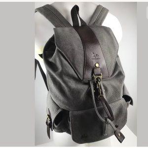 Manjianghong Gray drawstring Backpack 4 Pockets